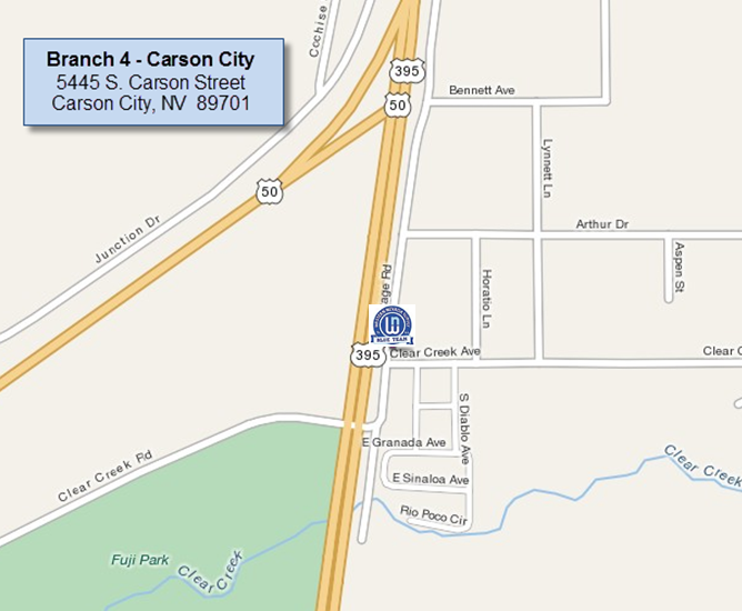 Carson City branch map