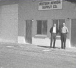 1964: Jack Reviglio and Bill Higgins at the first WNS store. <br/>2255 Glendale Sparks, Nevada