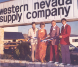 Jack Reviglio, Imy Higgins, Sparks Mayor Jim Lillard, and Tom Reviglio at Grand Opening of Corperate Store.<br/>950 South Rock Boulevard Sparks, Nevada