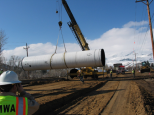 60 inch pipe being installed in northern Nevada